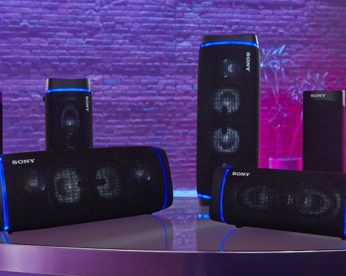 La nouvelle gamme d'enceintes Bluetooth de Sony