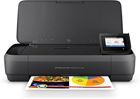 HP Officejet Mobile 250 Imprimante portable Multifonction jet d'encre couleur (10 ppm, 4800 x 1200 ppp, USB, Wifi)