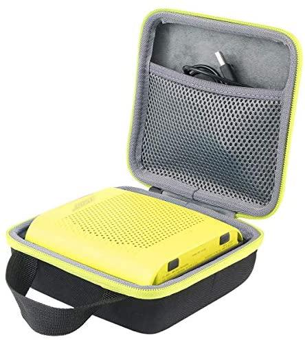 co2CREA Dur Étui de Voyage Rigide Housse Cas pour Bose SoundLink Color II Enceinte Bluetooth(boîte Seule) (Noir/Jaune Citron)