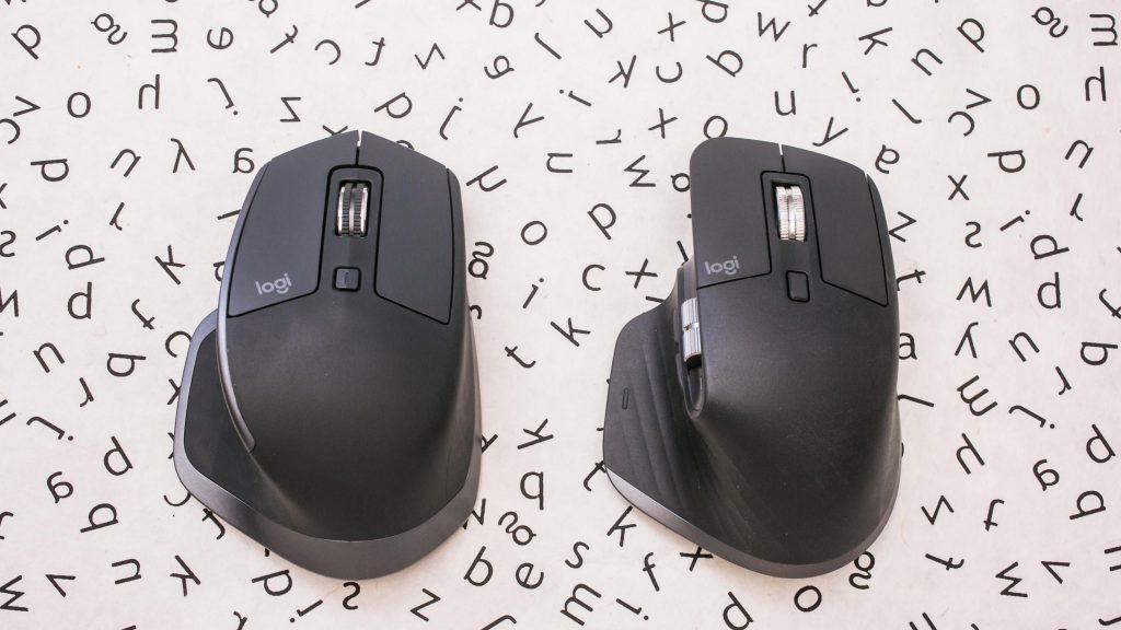 Le MX Master 2S (à gauche) avec le nouveau MX Master 3 entièrement repensé (à droite).