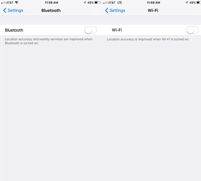 Comment vraiment désactiver le Wi-Fi et le Bluetooth dans iOS 11