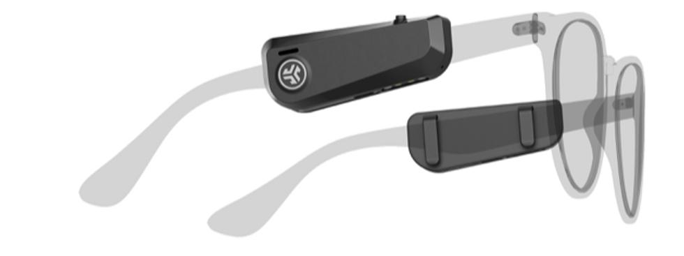 Les JBuds Frames sont des haut-parleurs Bluetooth qui se fixent à vos lunettes