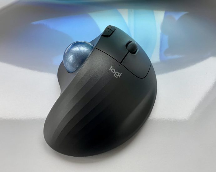 La souris Trackball sans fil Logitech Ergo M575