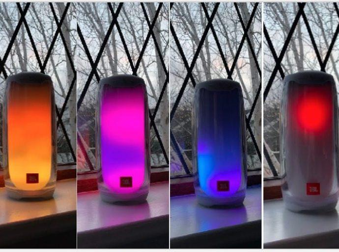 Le nouveau haut-parleur Bluetooth Pulse 4 de JBL est une enceinte très colorée !